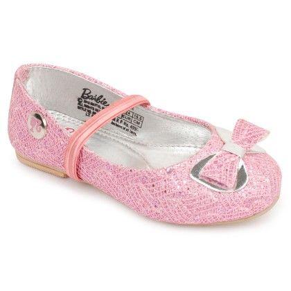 Light  Pink Barbie Barbie Ballerina Shoes Bow Design - Disney - Bioworld