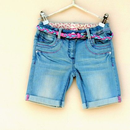 Stylish Girl Knee Length Shorts With Belt - Genesis Kid