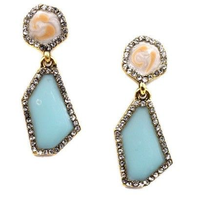 Sky And Water Drop Earrings - The Purple Present