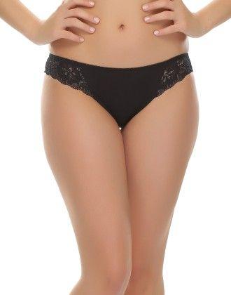 Clovia Fashion Lace Bikini In Black