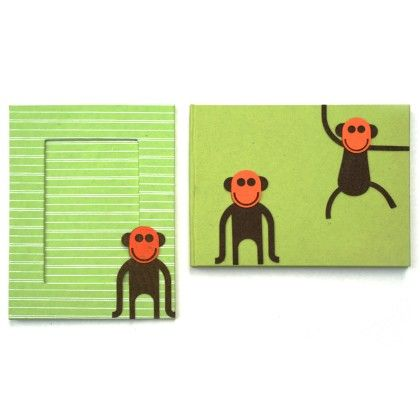 Combo Monkey Diary With Photo Frame - Two For Joy