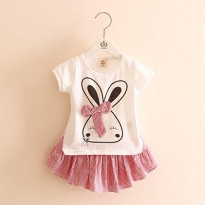 Trendy Rabbit Tunic Dress - Mauve Collection