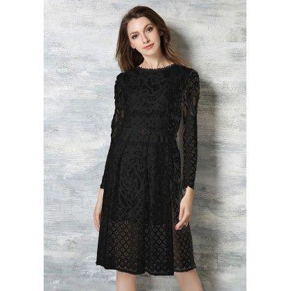 Lace Party Dress - Black - STUPA FASHION