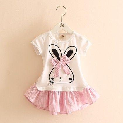 Trendy Rabbit Pink Tunic Dress - Mauve Collection