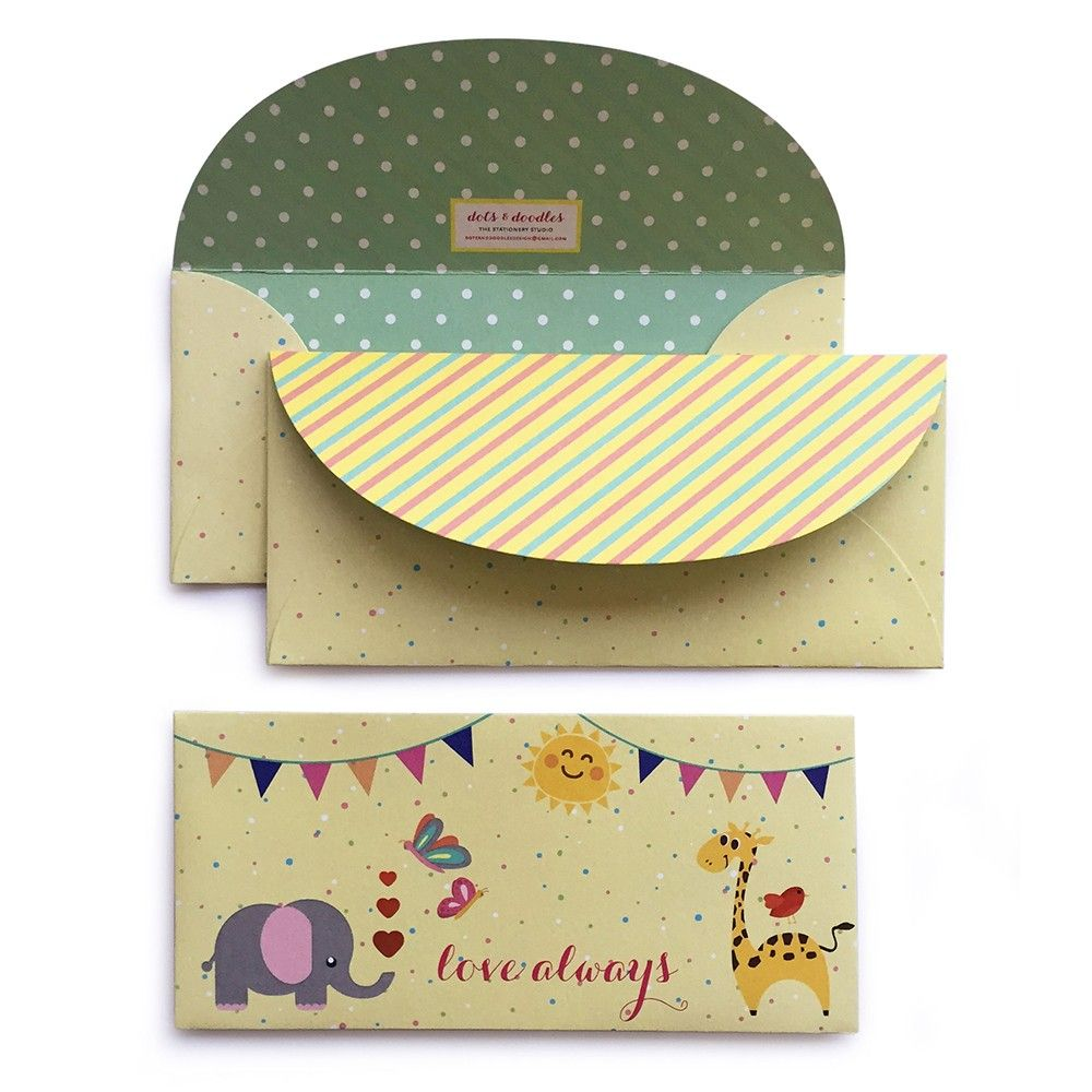 Animal Party Envelope - Dots & Doodles