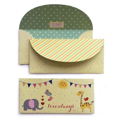 Animal Party Envelope - Dots & Doodles