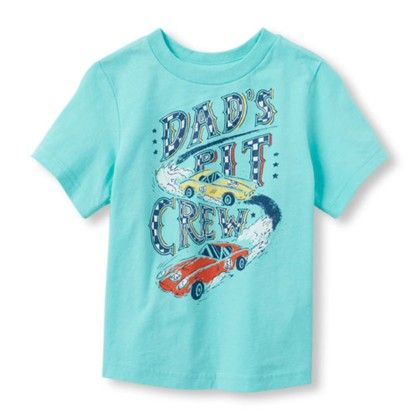 Boys Short Sleeve Dads Pit Crew Graphic Tee - The Children's Place
