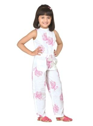 Roses Pretty Jumpsuit With Floral Neckline - Masaba For Magic Fairy