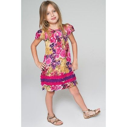 Pink Floral Band Cap-sleeve Dress - Toddler & Girls - Yo Baby