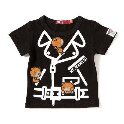 Jeans Black Round Neck T-shirt - NODDY