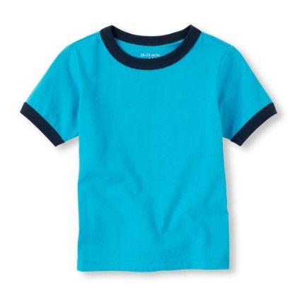 Blue Boys Short Sleeve Ringer Tee - The Children's Place