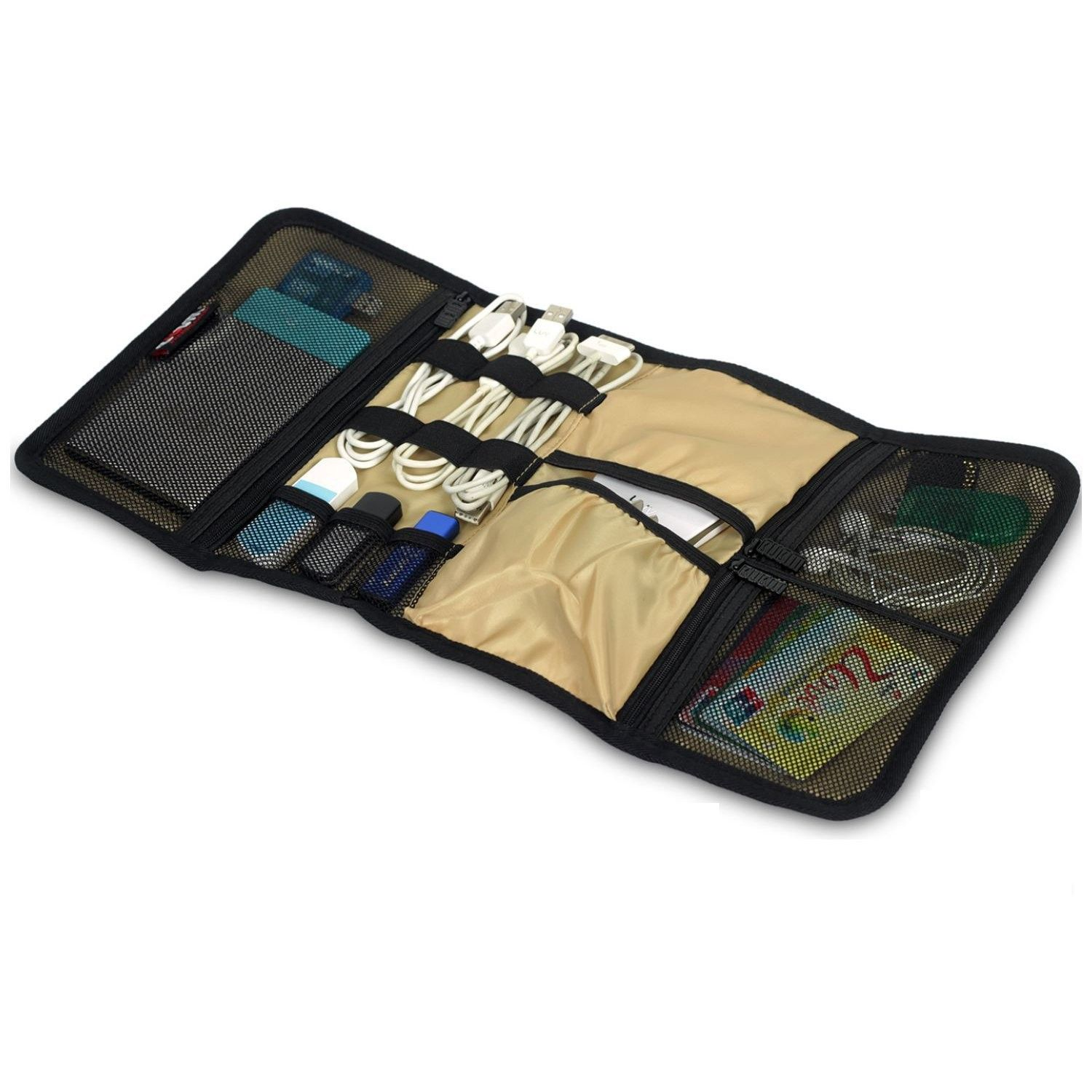 Hopscotch Total Gift Solutions Roll Up Travel Gadget Organizer Assorted