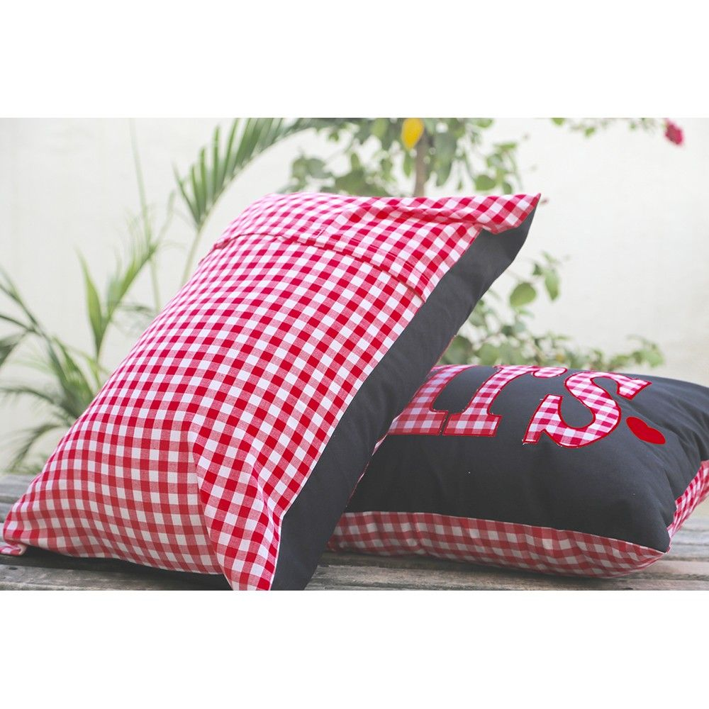 Hopscotch My Gift Booth Mr Mrs Pillow Cover Multi