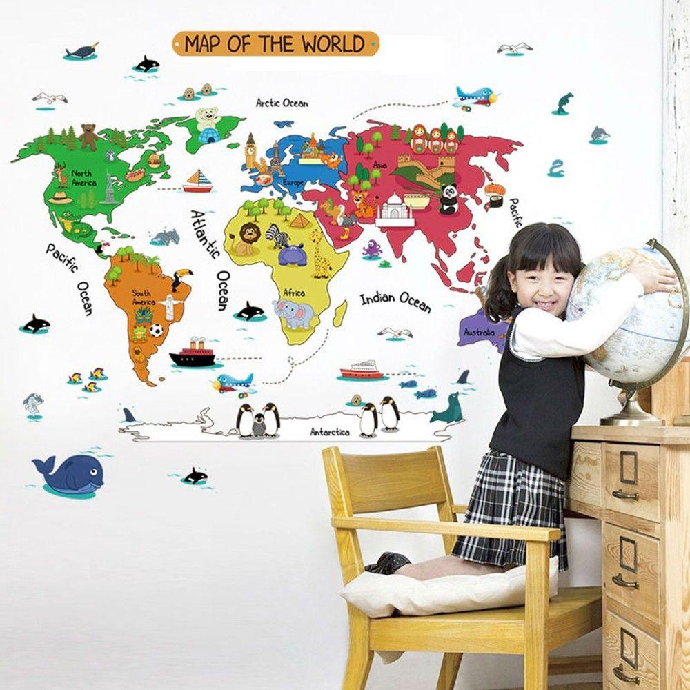 hopscotch uberlyfe colourful world map wall sticker