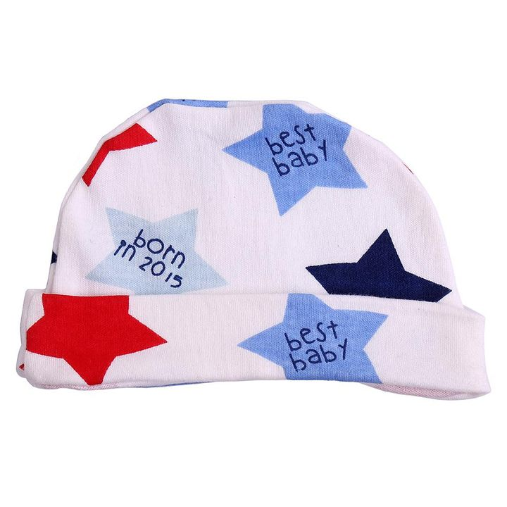 a77bdd68a Multicolor Star Printed Striped cotton Newborn-Infant-preemie-Baby cap