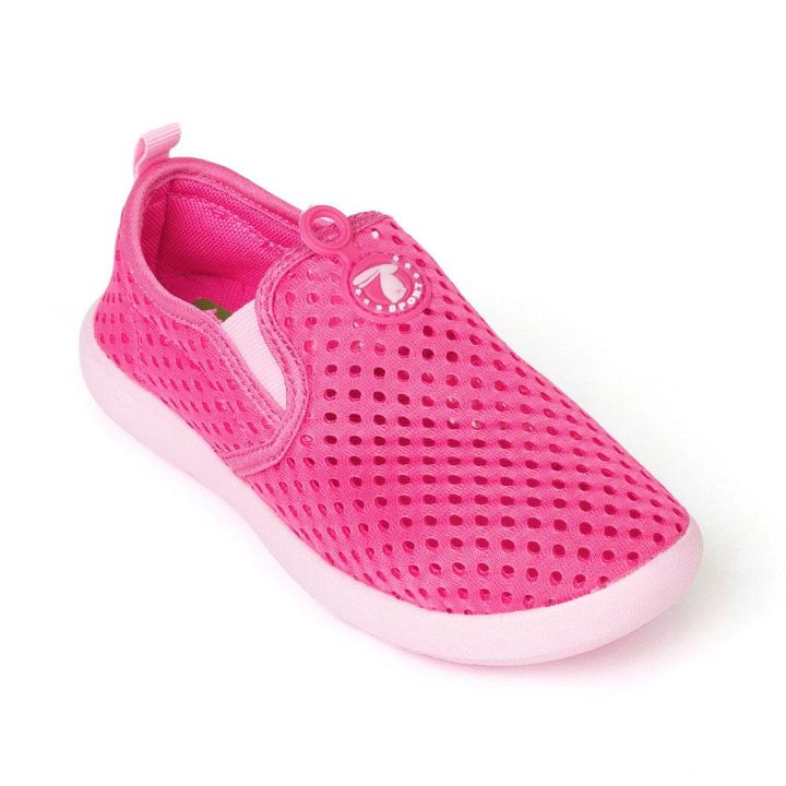 9eb14b8e9ac8 Hopscotch - Yellow Bee - Pink Mesh Aqua Shoes For Girls