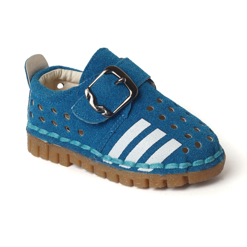 Buy Blue Shoes With White Stripes
