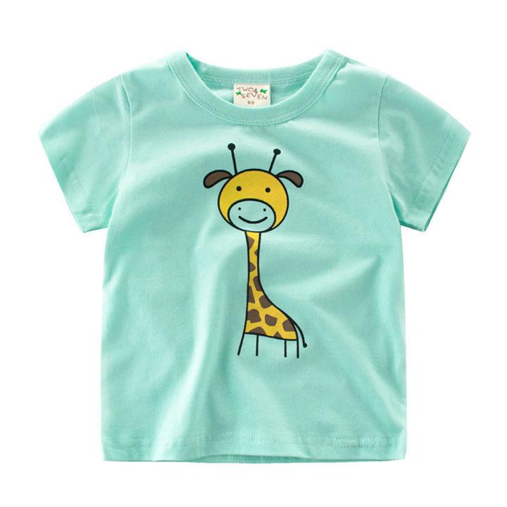 52fcd301 Hopscotch - 27 Kids - Giraffe Print Green T-Shirt