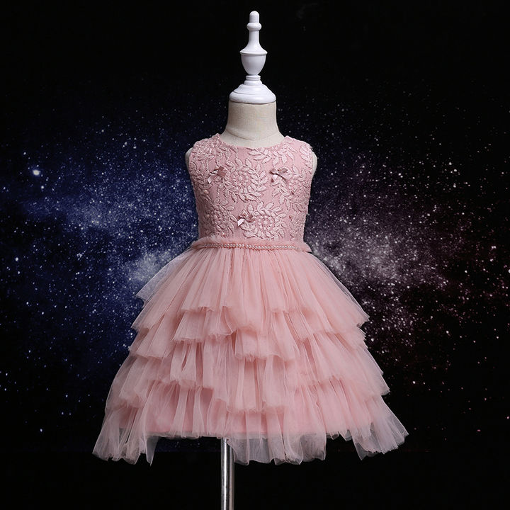 3dd67640f4a108 Hopscotch - Si Rosa - Cute Pink Embroidered Sleeveless Dress