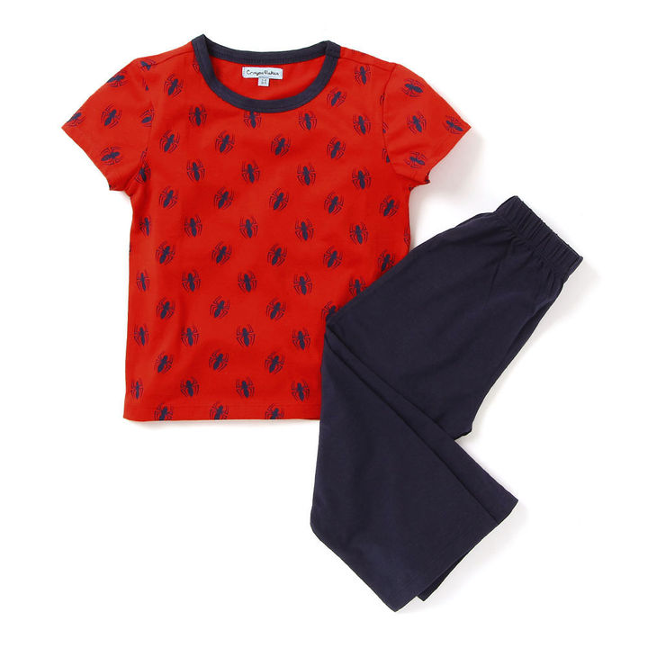 78ae068a6f Buy Red Bees Print Top And Navy Pajama Night Suit online @ ₹649   Hopscotch