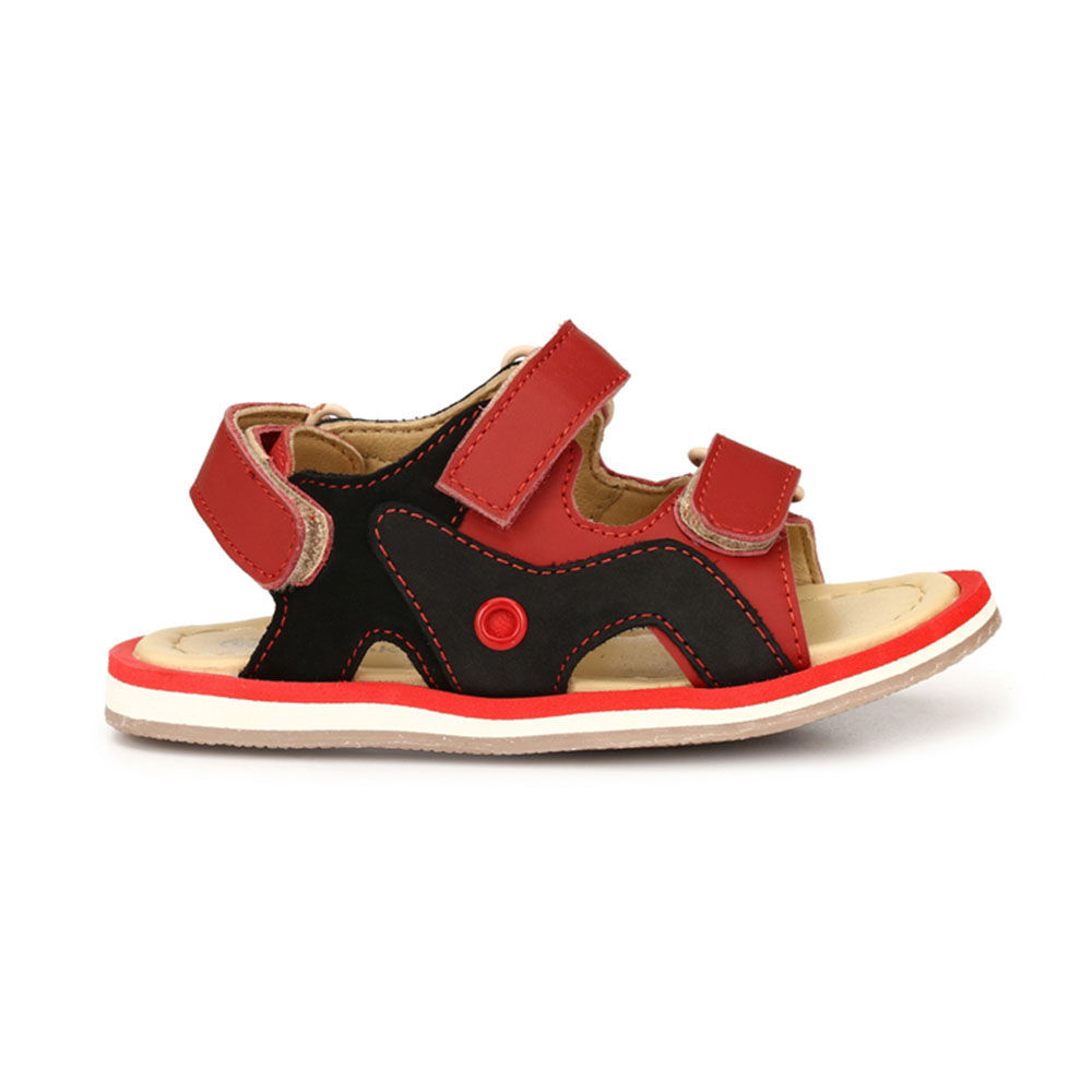 b806a624517b4 Hopscotch - Tuskey Shoes - Red Double Velcro Genuine Leather Sandals