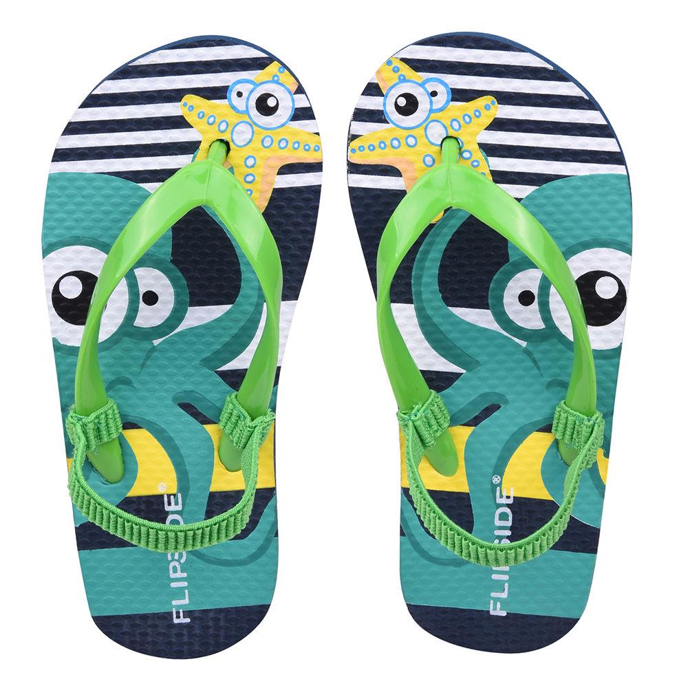 4c0822957e7 Hopscotch - Flipside - Kids Squid Green Flip Flops