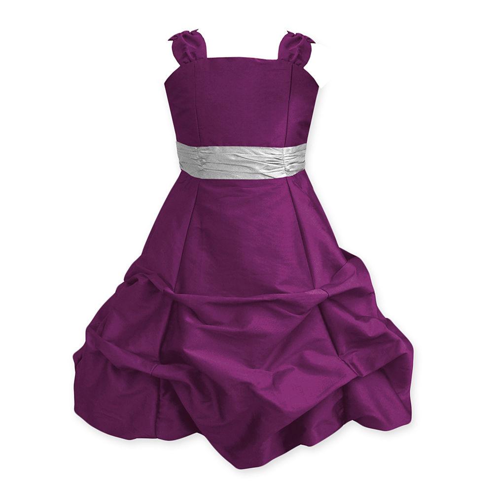 Hopscotch - A.T.U.N - Wine Ballroom Gown With Silver Belt