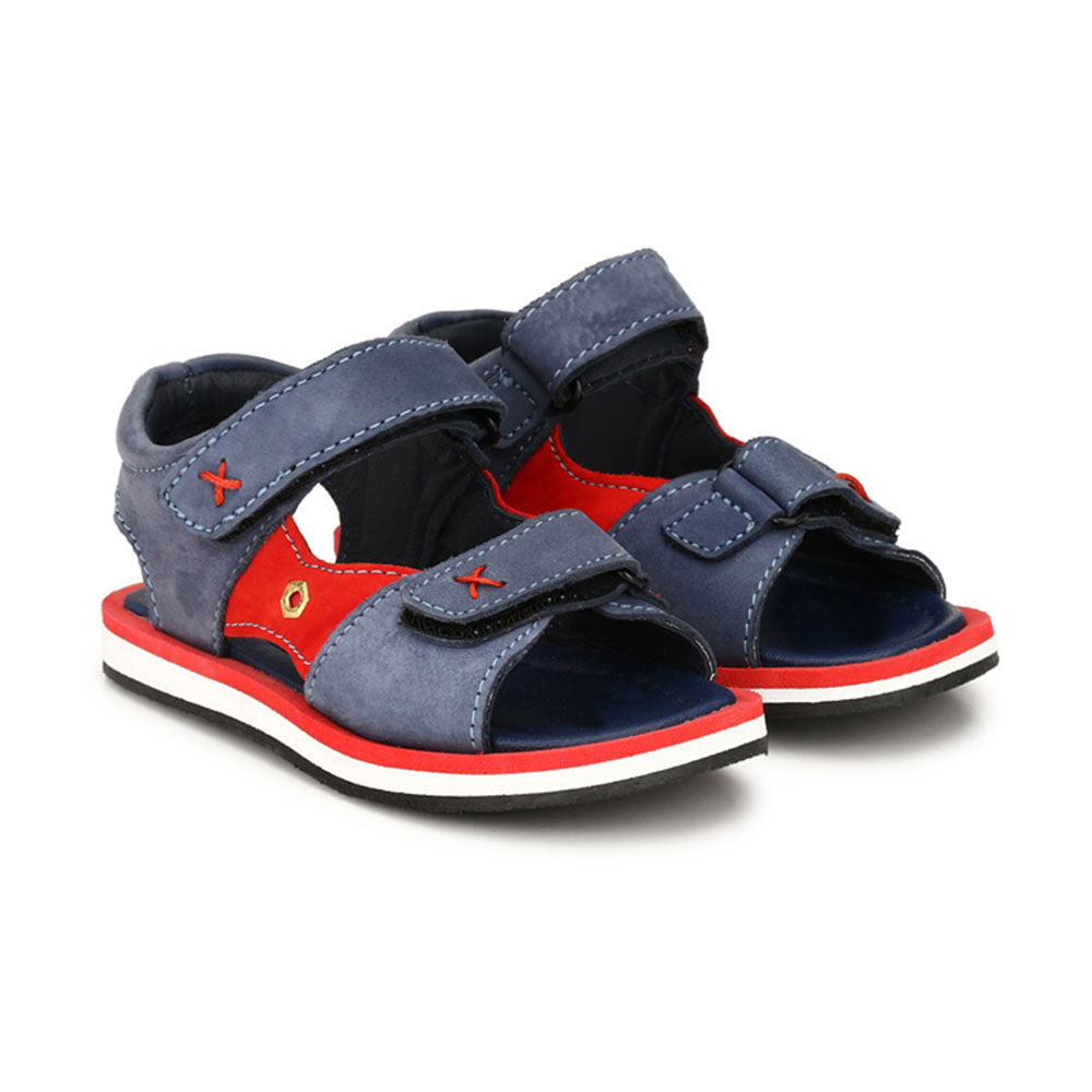Leather Red And Genuine Navy Sandals OwXZuTPkil