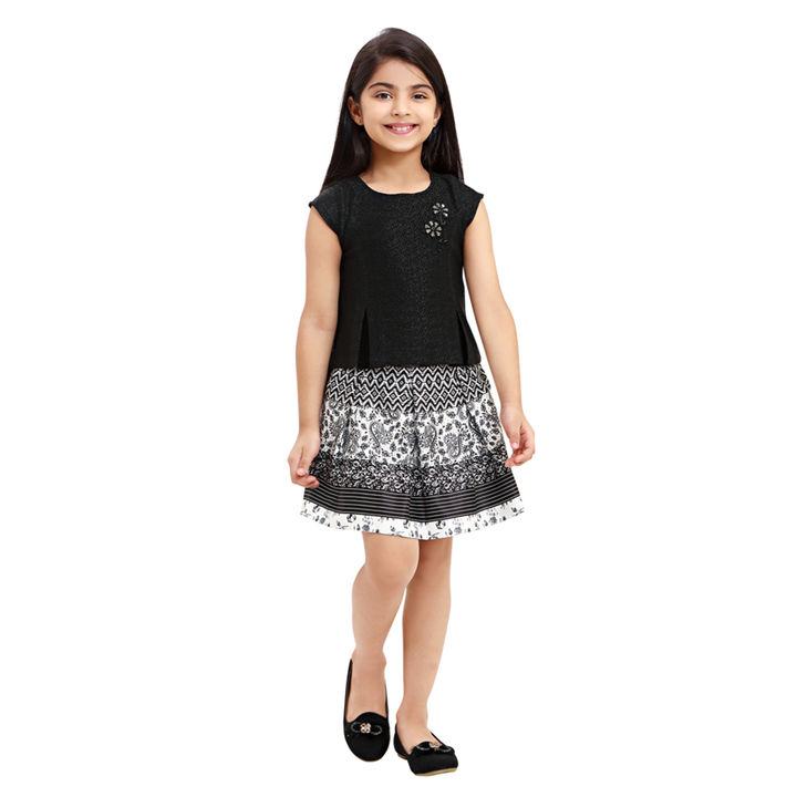 11dfe56c72b2 Hopscotch - Tiny Baby - Black and White Skirt Top Set