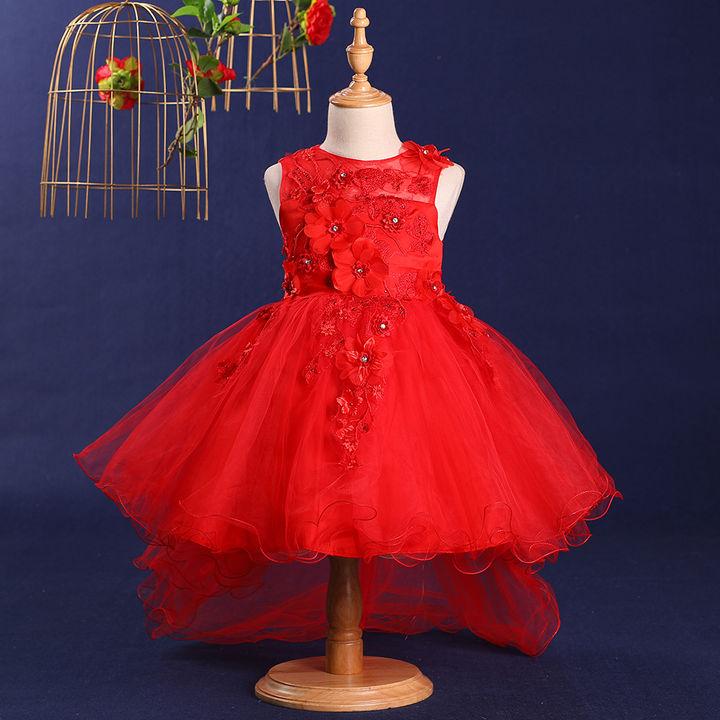 fee04e80df1fd4 Hopscotch - Si Rosa - Cute Red Applique Dress