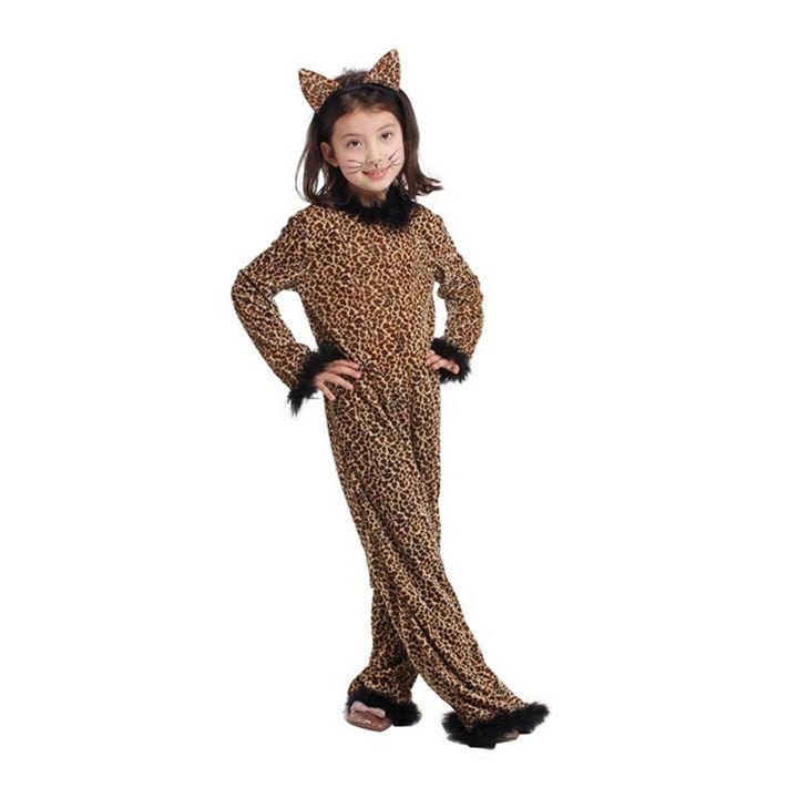 3716630a5f3 Brown Leopard Cute Girls Costume