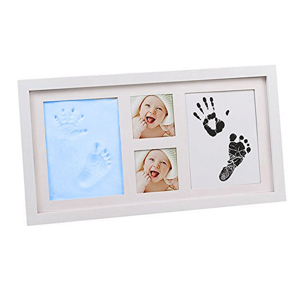 Hopscotch - Babies Bloom - Blue Baby Hand Footprint Picture Frame Kit