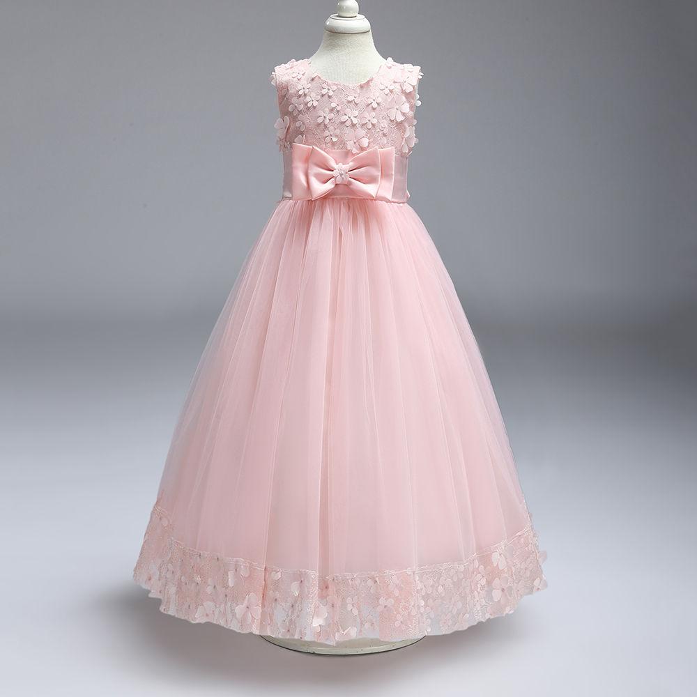 Hopscotch - Si Rosa - Adorable Pink Applique Party Gown