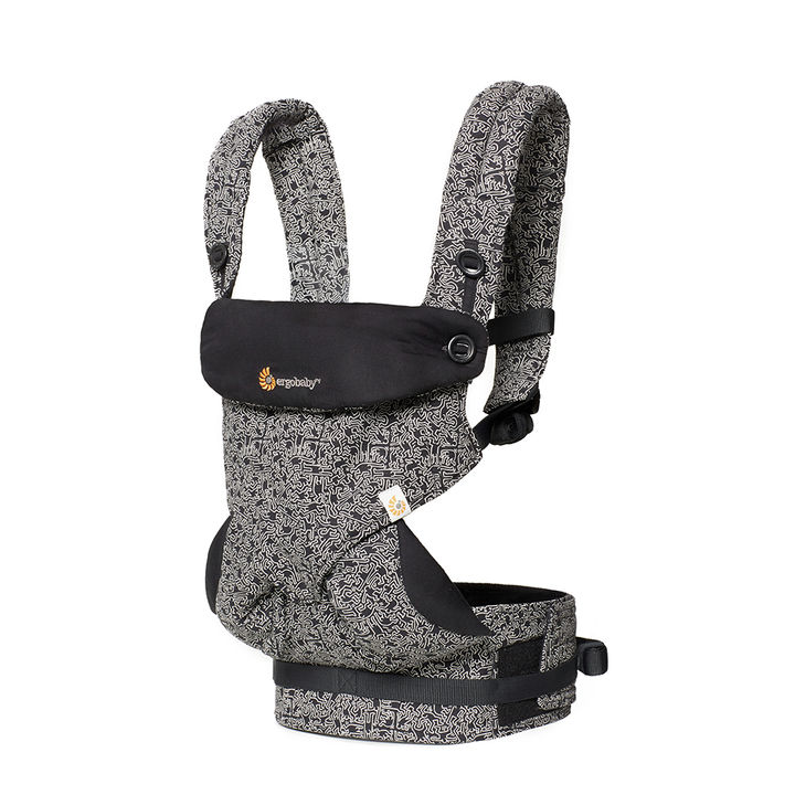 f9fa8472c04 Hopscotch - ergobaby - 360 All Carry Positions Ergonomic Keith Haring Baby  Carrier - Black