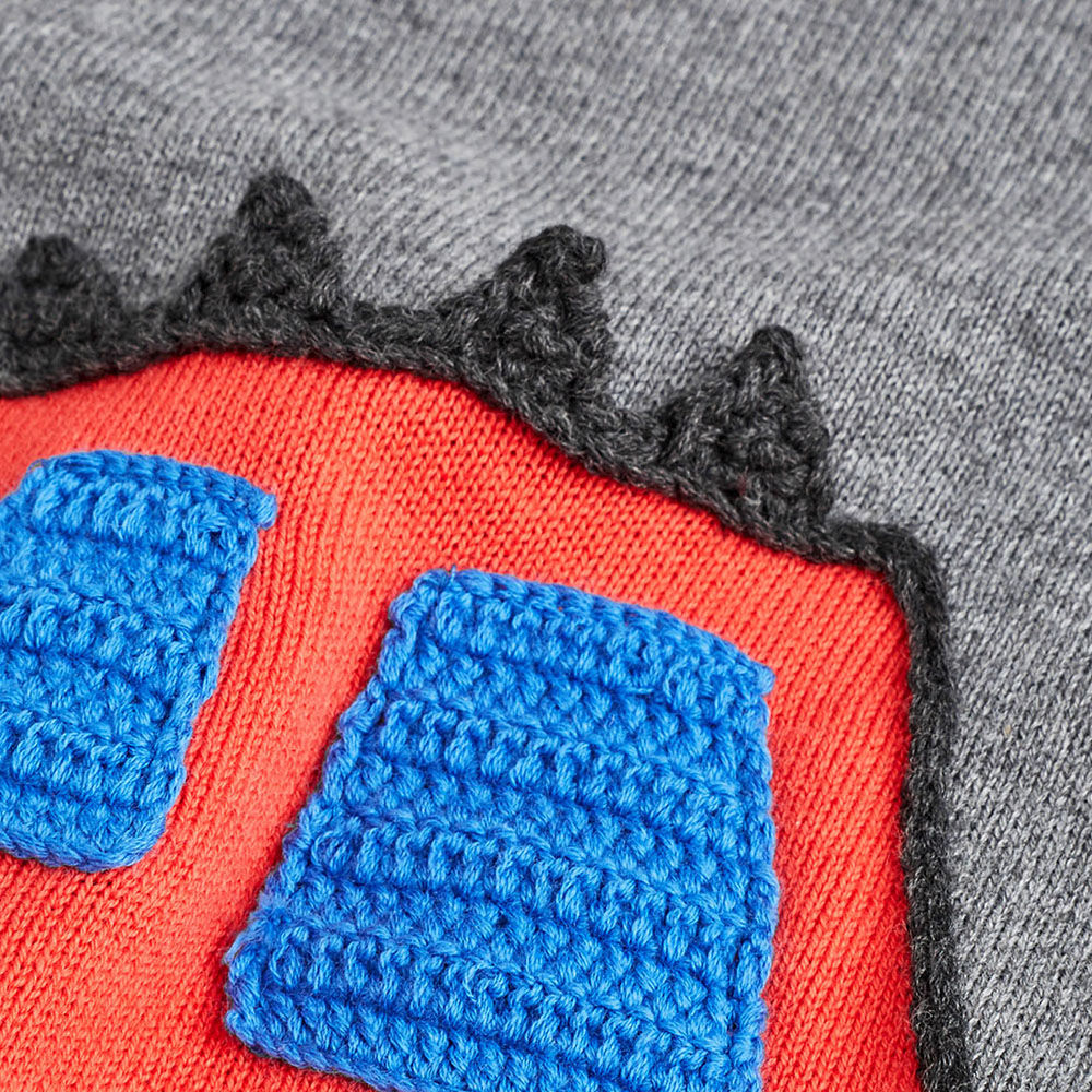 Hopscotch - Next UK - Gray Vroom Car Knitted Sweatshirt