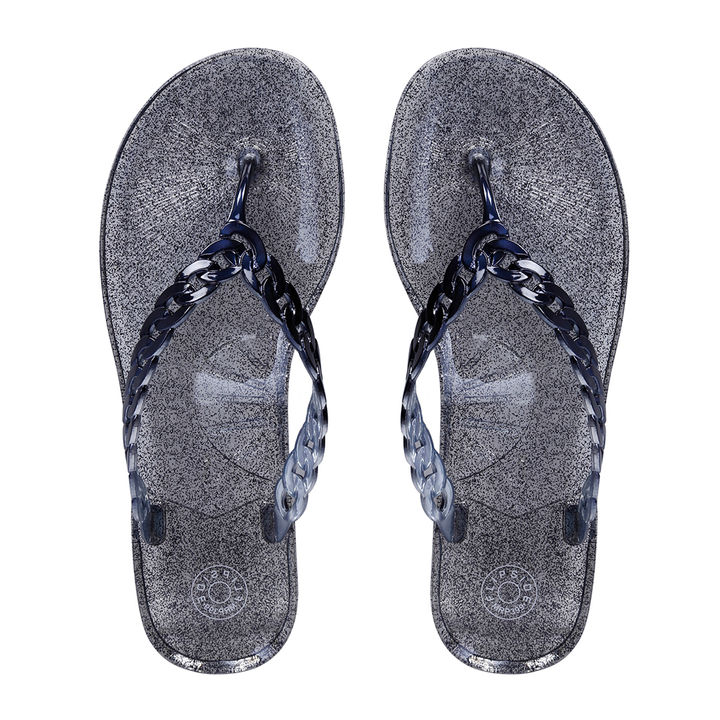 20a9cef945d2 Hopscotch - Flipside - Womens Jelly Blue Flats