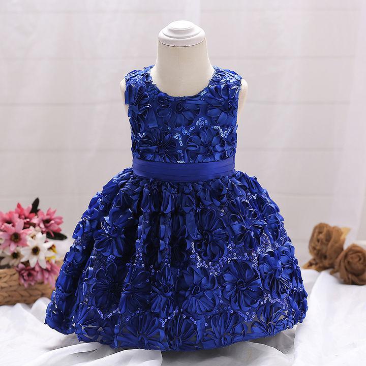 cdd974651da3 Hopscotch - Si Rosa - Royal Blue Floral Party Dress