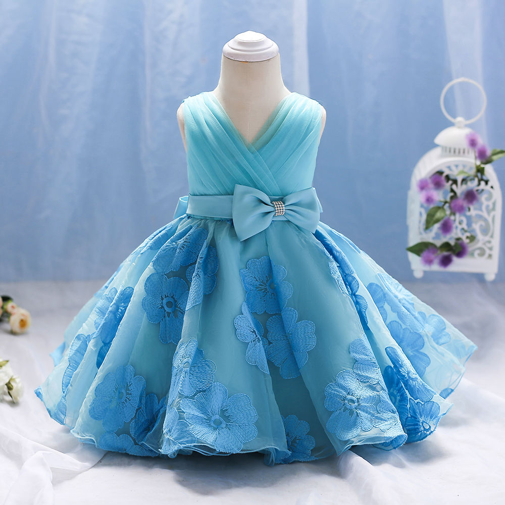 Hopscotch - Si Rosa - Blue Cute Party Dress