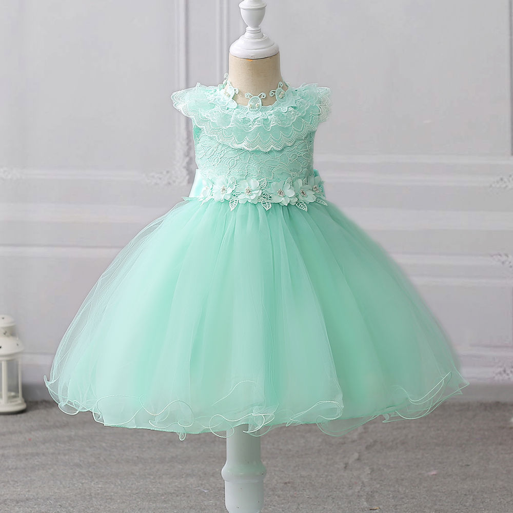 Hopscotch - Si Rosa - Beautiful Green Embroidered Party Dress