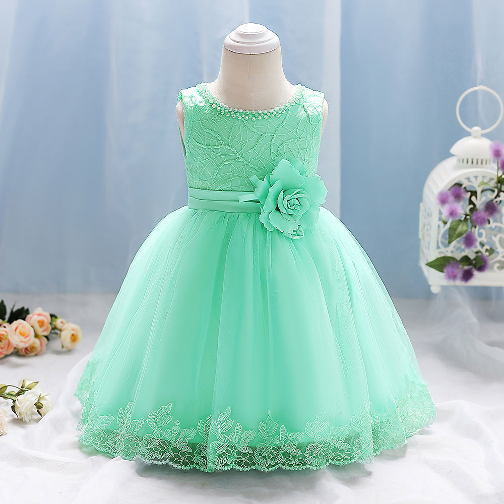 Hopscotch - Si Rosa - Green Trendy Cute Party Dress