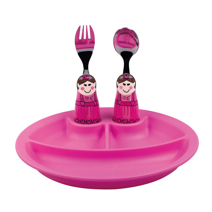 Ballerina Duos & Pink Plate - Eat And Play Plate
