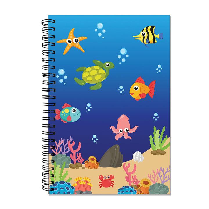 A5 Size Spiral Notebook - Fish