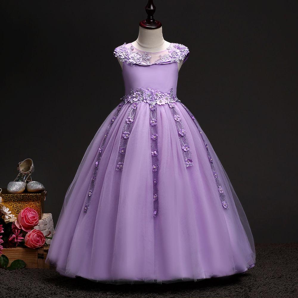 Hopscotch - Si Rosa - Beautiful Purple Applique Party Gown