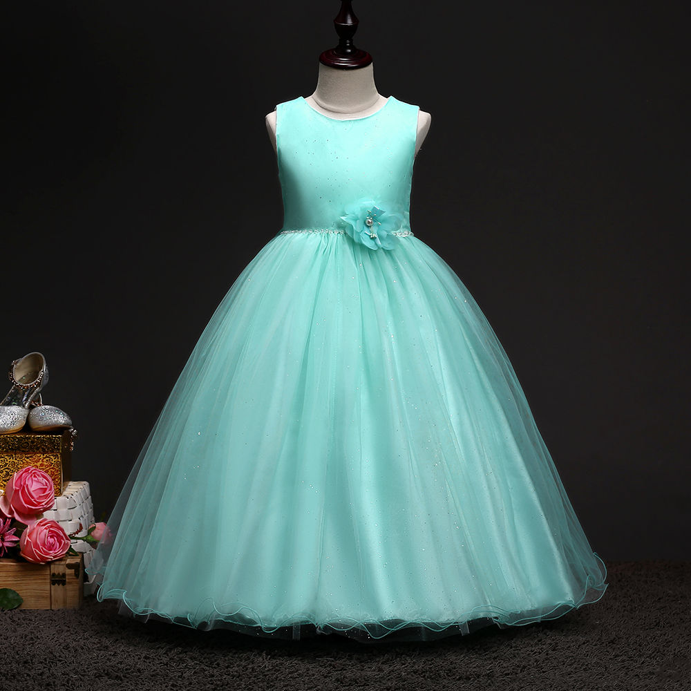 Hopscotch - Si Rosa - Beautiful Green Applique Party Dress