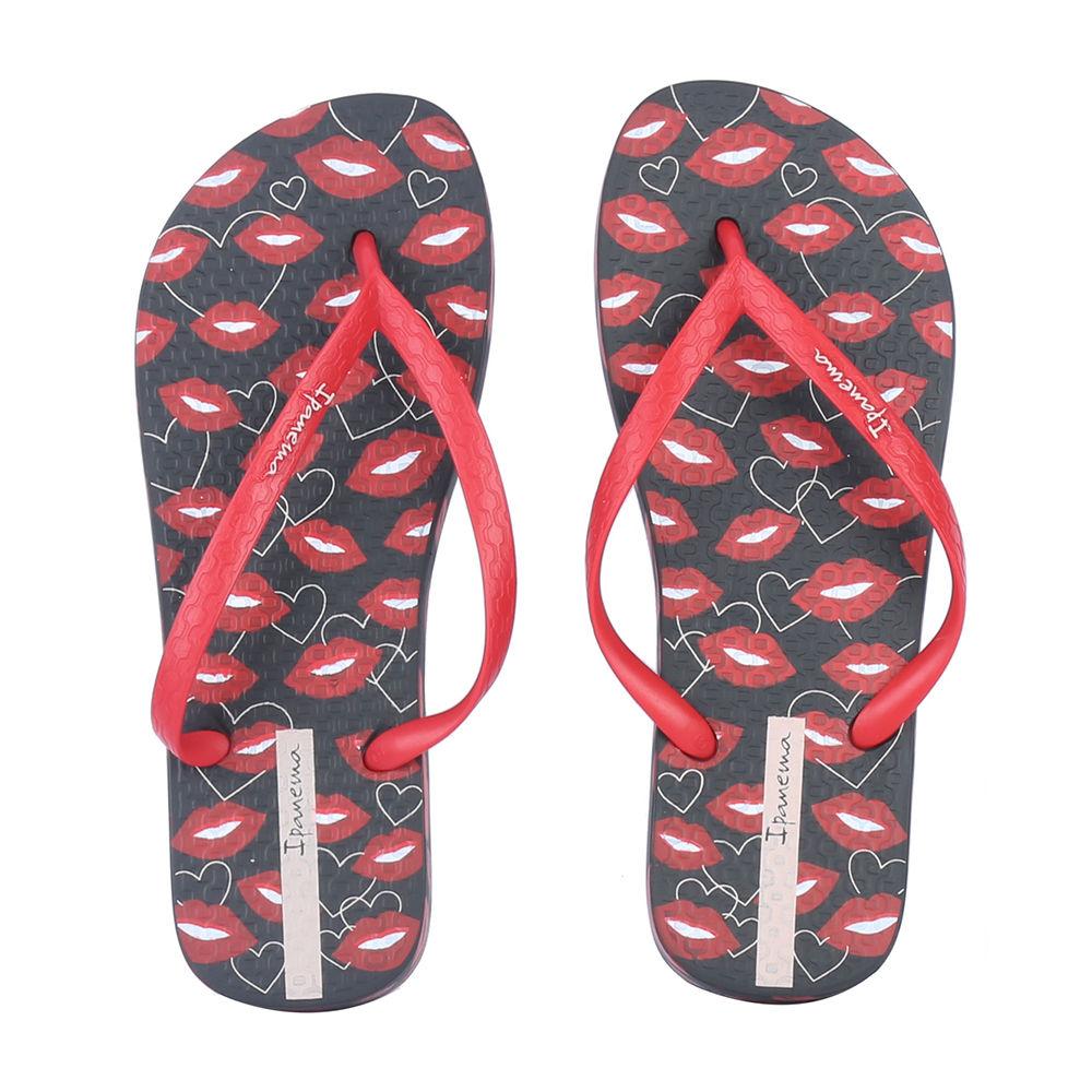 34863195c895e Hopscotch - Ipanema - Women Lovely Flip Flops - Black And Red