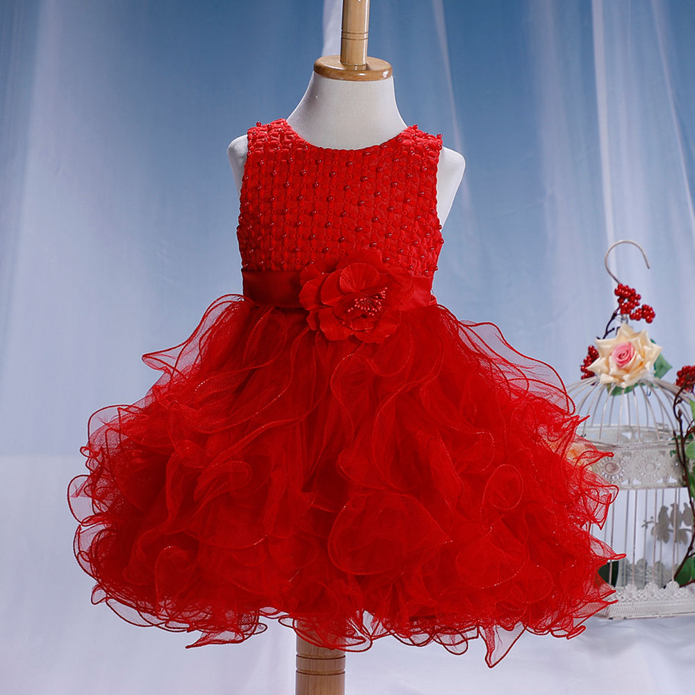 Hopscotch - Si Rosa - Beautiful Red Frilled Party Dress
