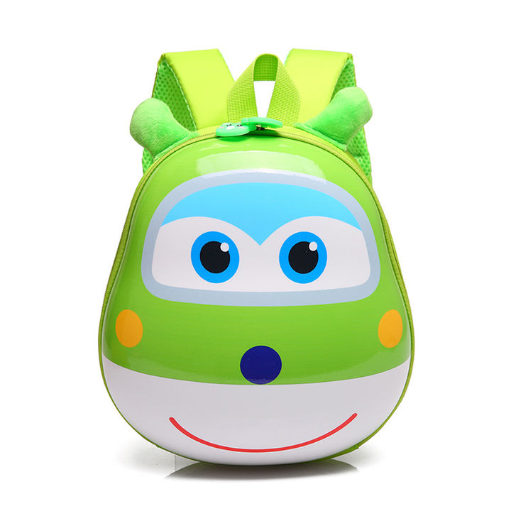 3D Animal Face Kids Backpack - Green