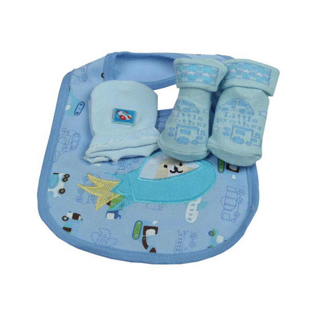 ed23b061cf8 Hopscotch - Babies Bloom - Blue Born To Fly Design 3 Pieces Baby Bib ...