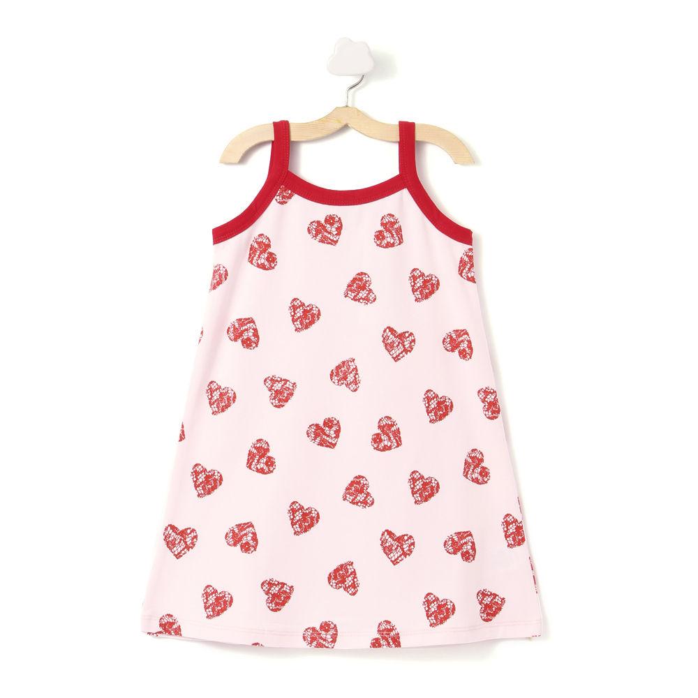 d94fe65dd8f Hopscotch - Crayon Flakes - Light Pink Hearts Straight Knit Dress