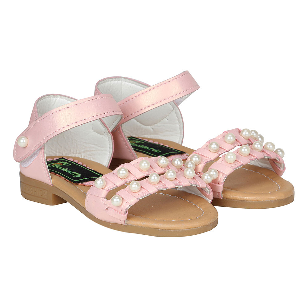 Hopscotch - Buckled Up - Buckled Up Pink Pearl Sandals